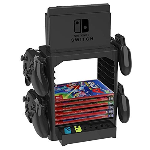 Jinxuny Games Discs Storage Container Tower Holder Rack CDs Video Storage Bracket Stand Shelf for Nintendo Switch Disc Console Host Controller