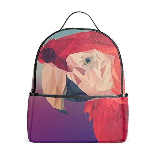 Red Cockatoo - The Red Cockatoo Padded Adjustable Shoulder Bookbags Travel Laptop Backpacks