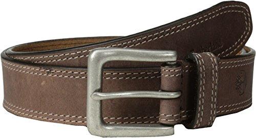 [Timberland Men's 35mm Boot Leather Belt Dark Brown 38] (Dark Brown Leather Buckle)