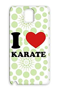 I Love Karate Martial Arts Sports Red Protective Hard Case For Sumsang Galaxy Note 3 Skid-proof