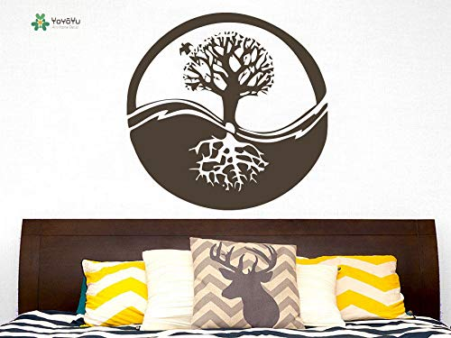 GUUTOP Tatuajes de Pared Vinilo removible Poster Tree Roots ...