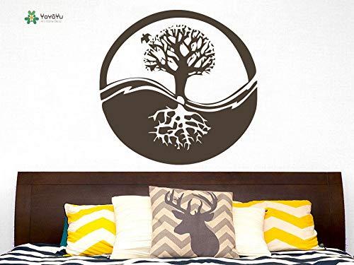 GUUTOP Tatuajes de Pared Vinilo removible Poster Tree Roots ...