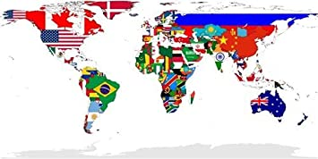 Amazon country flag world map glossy poster picture photo country flag world map glossy poster picture photo countries globe maps wow gumiabroncs Gallery