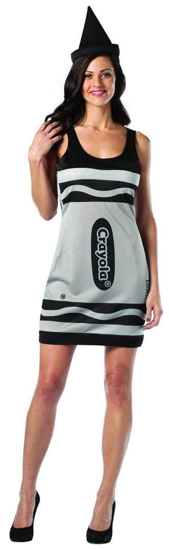 Crayola Black Crayon Sexy Costume - Womens 4-10