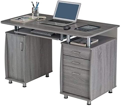 Pemberly Row 48 Computer Desk in Gray