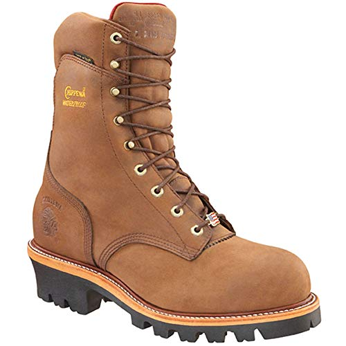"Chippewa Men's 9"" Waterproof Insulated Steel-Toe EH Logger Boot,BayApache,11.5 E US"
