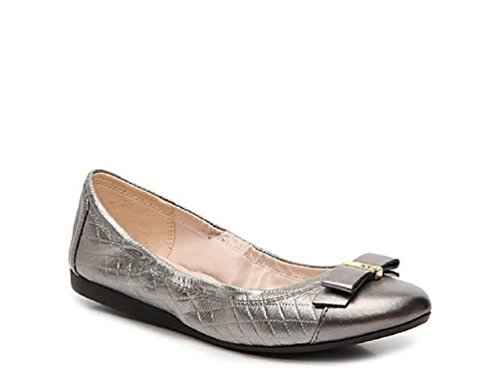 Quilted Flats Metallic (Cole Haan Women Elsie Ballet Flat (7.5 B(M) US, Pewter Gunmental Metallic Quilted))