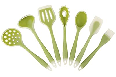 Intriom Set of 7 Kitchen/Baking BPA free FDA food garde Silicone Utensils