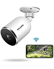Kolaura 1080P Security Outdoor Camera, IP66 Waterproof Home Wifi Surveillance Bullet camera with Night Vision, 2-Way Audio, Could Storage, Motion Detection Remote Monitor for Andriod, IOS