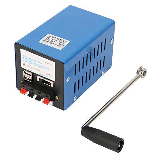 maxmartt USB Hand Cranked Dynamotor Generator Blue for Hiking Travel Generator High Power Hand-cranked Charging Generator USB Charging Emergency Dynamotor