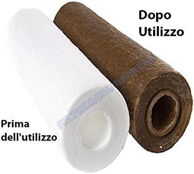 Filtres Eau Italie Cartouche Filtre Fil envelopp/é 5/Pouces microns 1/polypropyl/ène s/édiments Set 10/pi/èces