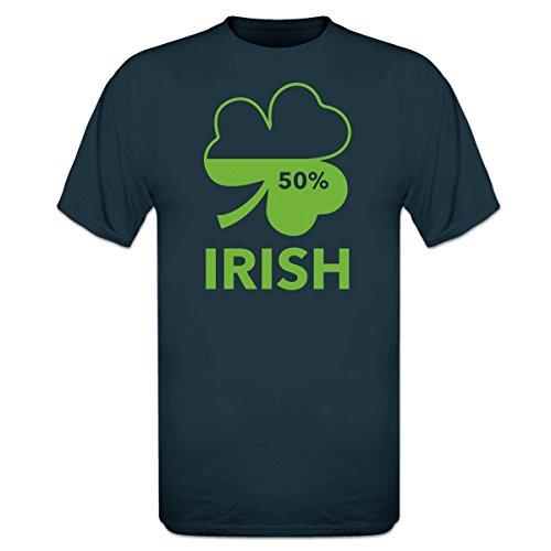 Shirtcity Irish 50 Percent T-Shirt XXL Blue - Xxl 50 Cent