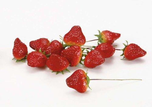 [해외]딸기 픽 (M) (12 개팩) / Strawberry Pick (M) (12 piecespack)