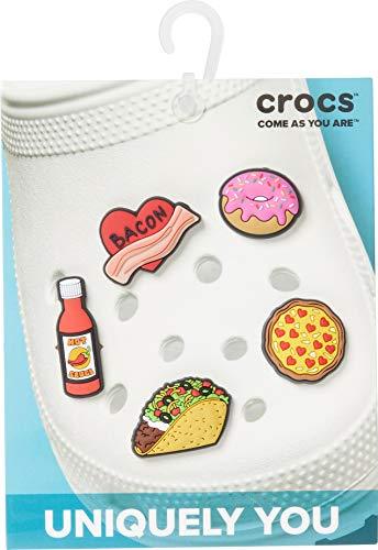 Crocs Jibbitz Shoe Charm 5-Pack, Trendy Food, Small