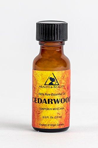 Cedarwood Essential Oil Organic Aromatherapy Therapeutic Grade 100% Pure Natural 0.5 oz, 15 ml (Gal Cedar Oil)