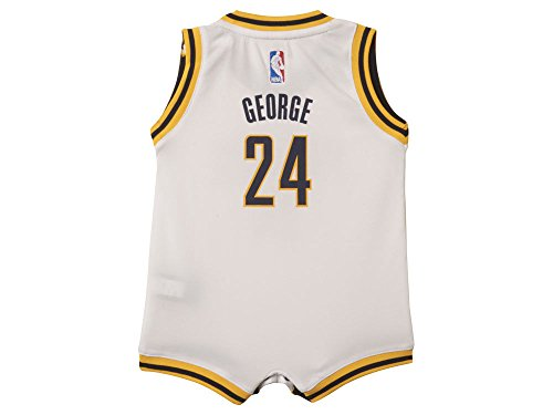 adidas Paul George Indiana Pacers #13 White NBA Infants Revolution 30 Replica Jersey (12 Months)