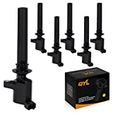 2003 escape coil pack - Pack of 6 Ignition Coils for Ford Mercury Mazda V6 3.0L Compatible with C1458 FD502 DG500 DG513