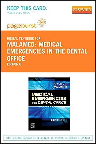 Medical Emergencies in the Dental Office - Elsevier eBook on