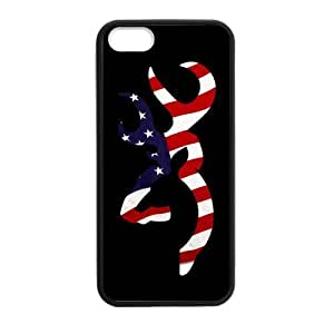 CMGOODS Cool American Flag Browning Cutter Case Cover Sleeve Protector for Phone iPhone 5/5S TPU (Laser Technology) by ruishername