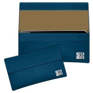 SIMON PIKE Cáscara Funda de móvil NewYork 15 azul petróleo Acer DX900 Fieltro de lana