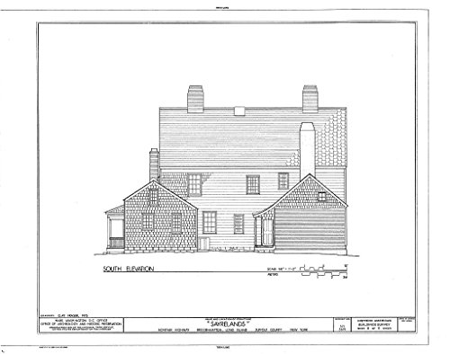 - Historic Pictoric Blueprint Diagram HABS NY,52-BRIG,3- (Sheet 8 of 11) - Sayrelands, Montauk Highway, Bridgehampton, Suffolk County, NY 44in x 32in