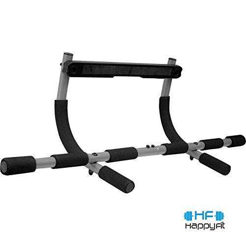 Happyfit® Heavy duty Easy Gym Doorway Chin up/pull up Bar Upper Body Workout Bar