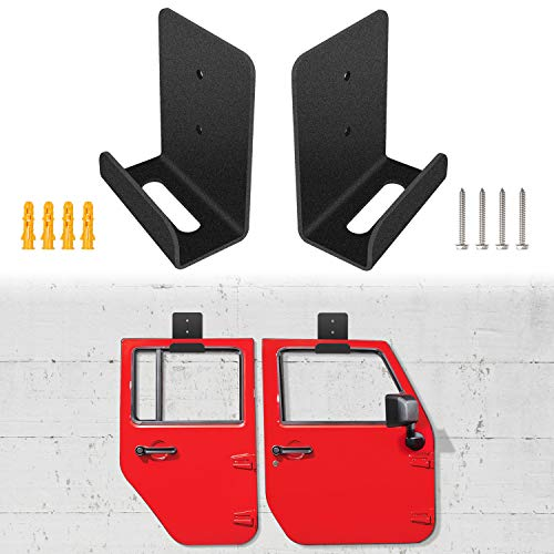 Door Hanger Removable Door Wall-Mounted Storage Rack Bracket for Jeep Wrangler CJ YJ TJ LJ JK JKU and the all new JL (Set of 2 - Tj Door Seal Half