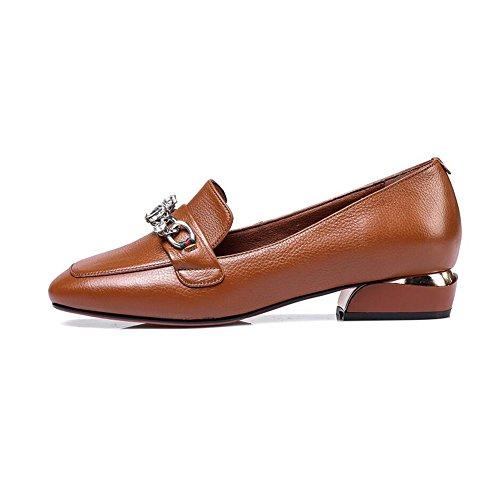 Peu Classique UK3 B Moyen Taille Mode Carré Profond Couleur Orteil EU35 A Pointu Talon Chaussures Féminine CJC SnZaxS4