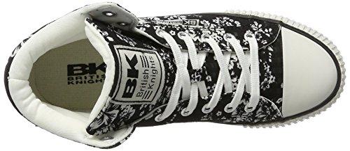 Cavalieri Britannici Damen Dee Sneaker Schwarz (fiore Nero / Bianco)