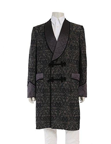(ドルチェアンドガッバーナ) DOLCE&GABBANA ジャガード コート グレー 黒 2016AW G0709T 中古 B07FW7KGD6  -