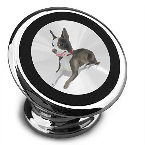 (Universal Magnetic Phone Car Mounts Magnet Holder Cute Boston Terrier Magnetic Mount for Phone 360° Rotation)