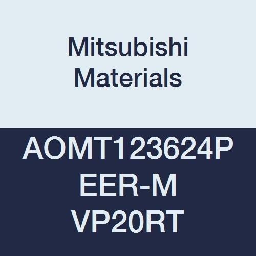 Mitsubishi Materials AOMT123624PEER-M VP20RT Coated Carbide Milling Insert 0.094 Corner Radius 0.142 Thick Pack of 10 Class M Grade VP20RT Parallelogram 85/° Round Honing