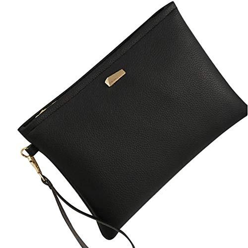 Bag Black Clutch Leather Women Bag Handbag Clutch Black Fashion Clutches Female Bag Kanpola XUqwFngAxC