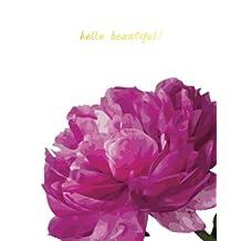 """Hello Beautiful"" Pink Peony Notebook/Journal"