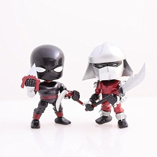 Teenage Mutant Ninja Turtles Metallic 2 Pack Shredder and Foot Ninja (Ninja Turtles Blind Box Set)