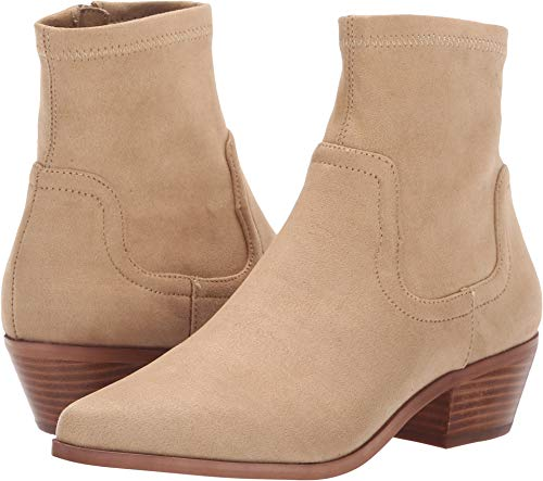 Steve Madden Women's Western Ankle Boot, Sand, 10 M US (Cowboy Boots Beige)
