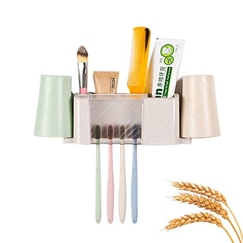 Smagear Toothpaste Toothbrush Holder Wall Paste Hanging with