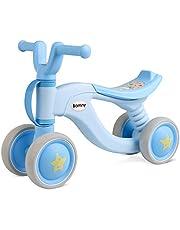 Bamny Kinder Laufrad superleichtes Lauflernrad für Baby und Kinder 1-3 Jahre Alt (Blau-Weiß)