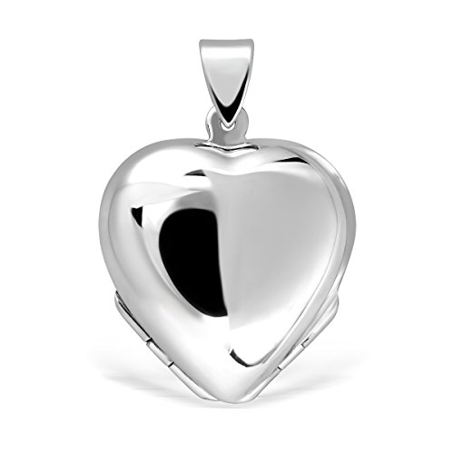 Sterling Silver 4 Picture Photo - WithLoveSilver 925 Sterling Silver Heart Lucky Clover Photo for Four Pictures Pendant Locket