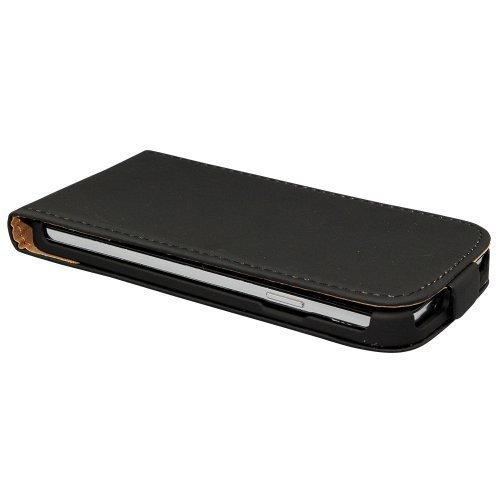 Cubierta de la caja Avcibase protectora para Samsung Galaxy S3 I9300 S3 Neo Smartphone tirón de la PU cuero de la caja de protección para la caja del teléfono móvil de la cubierta de cuero de imitació negro