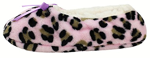 Enimay Womens Animal Print Fuzzy Soft Slipper Socks Anti-Slip Sole House Shoes Pink | Lavender Bow 2 bNqBpJEJRk