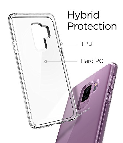 Spigen Ultra Hybrid Galaxy S9 Plus Case with Air Cushion Technology and Clear Hybrid Drop Protection for Samsung Galaxy S9 Plus (2018) - Crystal Clear by Spigen (Image #4)