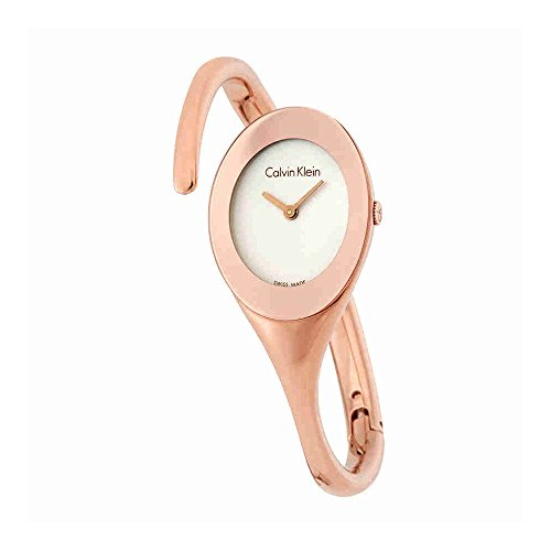 Calvin Klein Embrace White Dial Bangle Ladies Watch (Calvin Klein Womens White Dial)