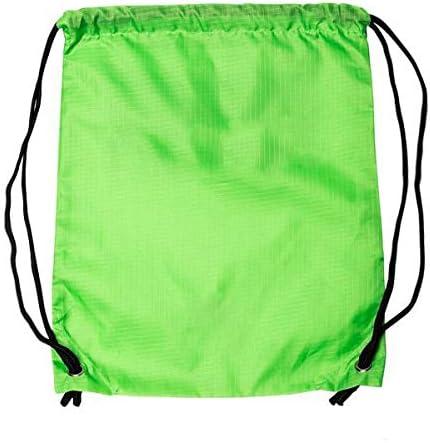 e58206bf9c09 LIHI Bag 10 Pack Ripstop Kids Party Favors Nylon Blank Bulk Drawstring  Backpack,Reusable Gift Sack Pack Bag,Cinch Sling Bag,Giveaways, Fluorescent  ...