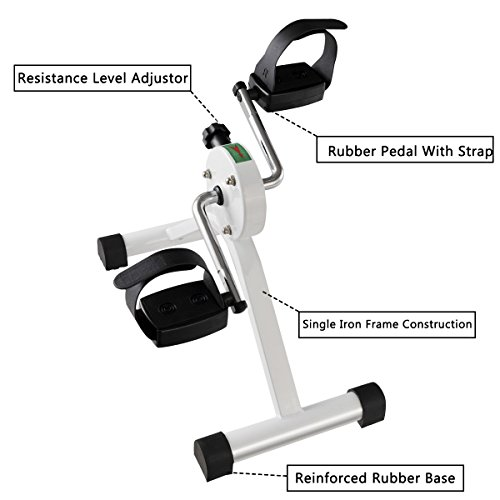 Cheap Goplus Portable Pedal Exerciser Desk Bike with