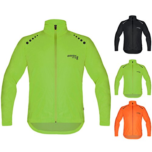 Brisk Bike Ultra-light all weather waterproof sports rain jacket for...