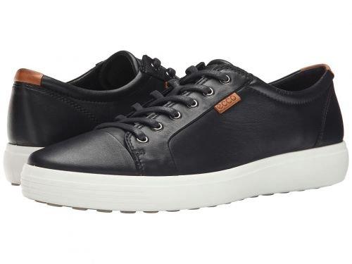 ECCO(エコー) メンズ 男性用 シューズ 靴 スニーカー 運動靴 Soft VII Sneaker - Black/Lion [並行輸入品] B07C8GWSDN