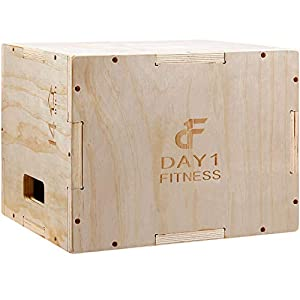 Well-Being-Matters 41k9v2N7ehL._SS300_ Wood Plyometric Box by Day 1 Fitness - 4 SIZE OPTIONS (16x14x12, 20x18x16, 24x20x16, OR 30x24x20) - 3-in-1, for Crossfit…