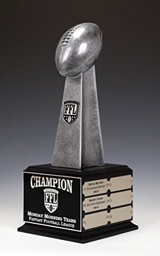 Lombardi League Trophy, Fantasy Football Perpetual 12 Years, 14