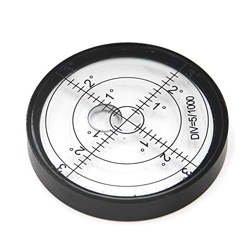 Aluminium Case Bullseye Spirit Bubble Surface Level Round Inclinometers for Surveying Instruments and Tribrachs, Ø60mm ,Accuracy 15/2